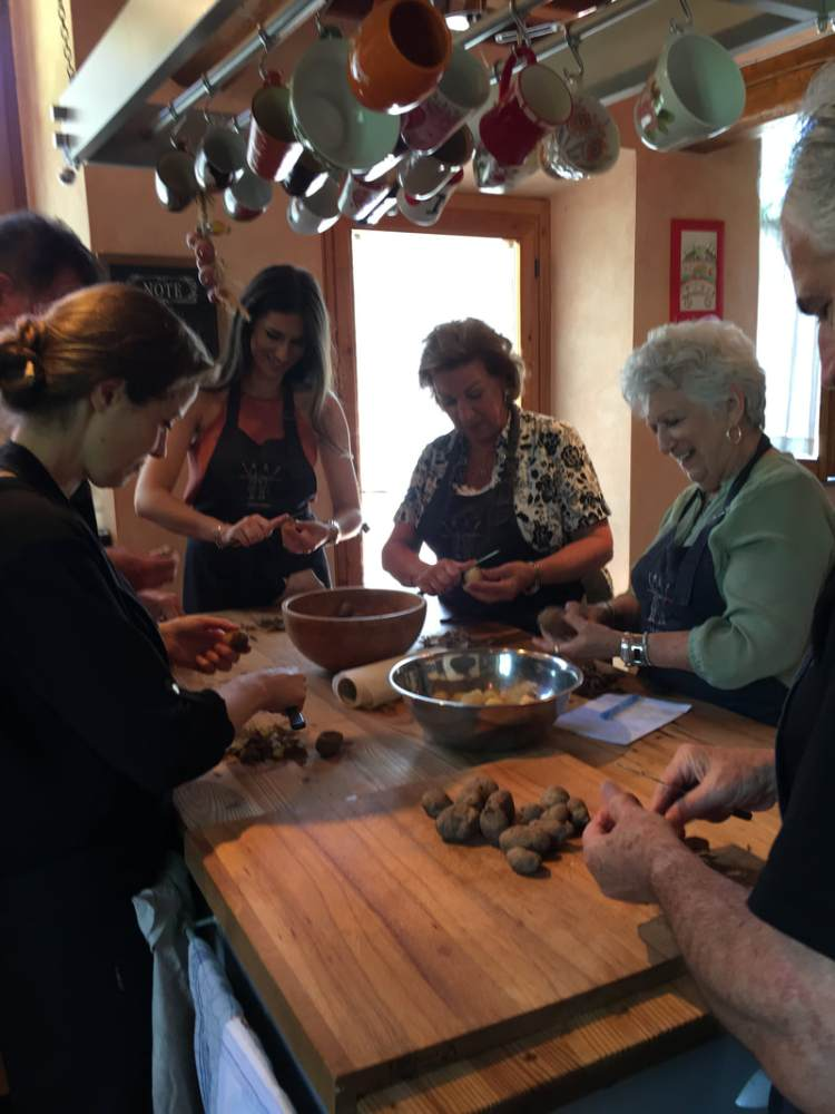 people preparing a meal together