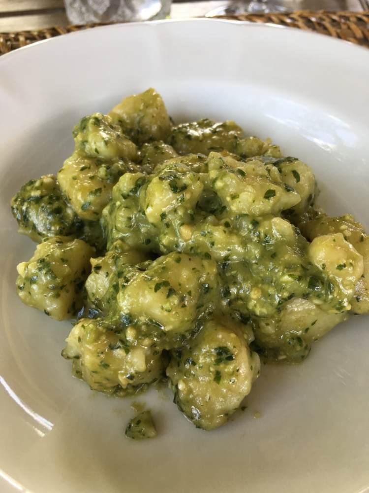 freshly made potato gnocchi