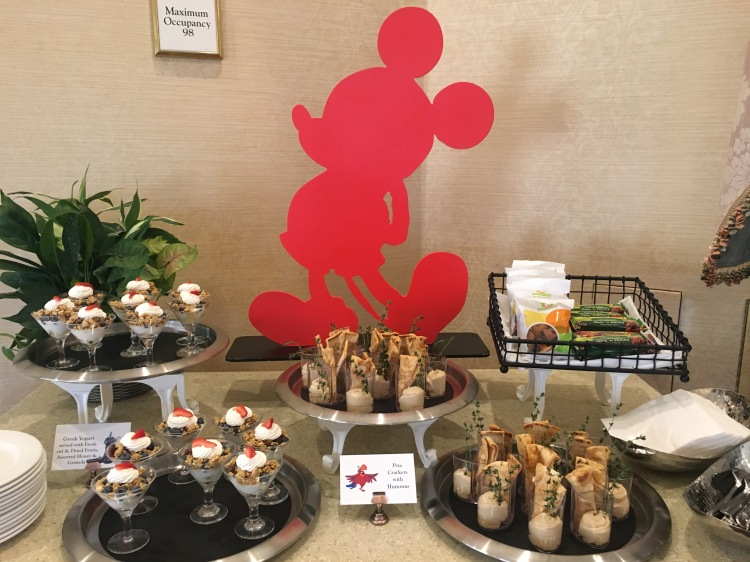 Mickey food decor and buffet